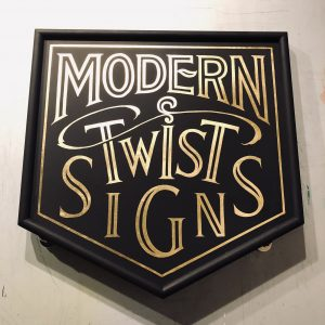 Hanging Sign by Modern Twist Signs